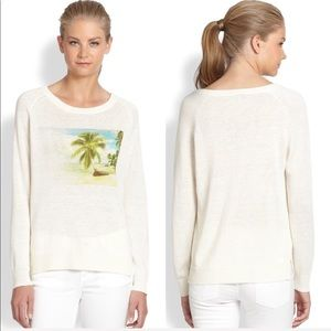 • Joie • Shaleah Vintage Photo Print Linen Sweater